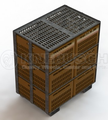 Putencontainer  (hier mit Kisten befüllt)
